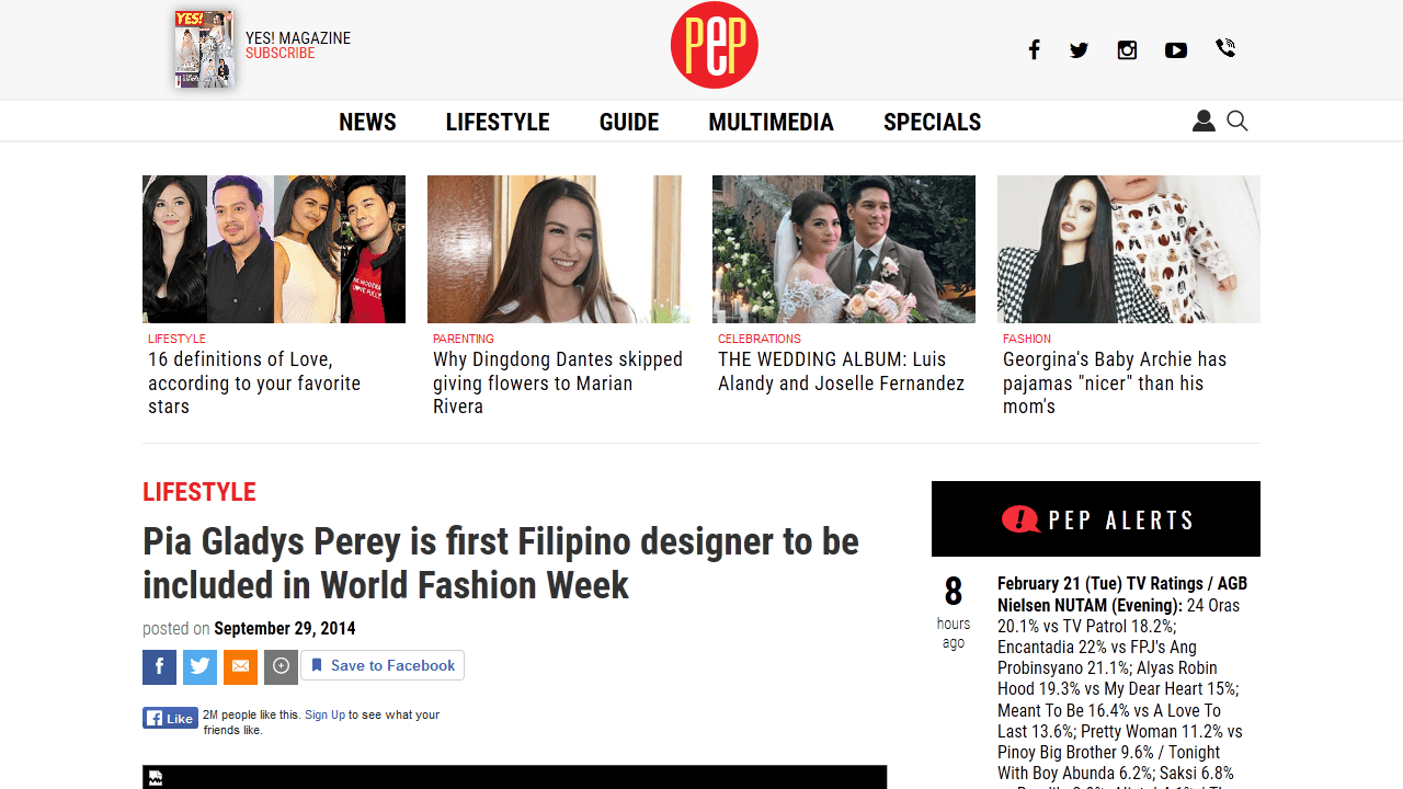Pia Gladys Perey is first Filipino designer to be included in World Fashion Week