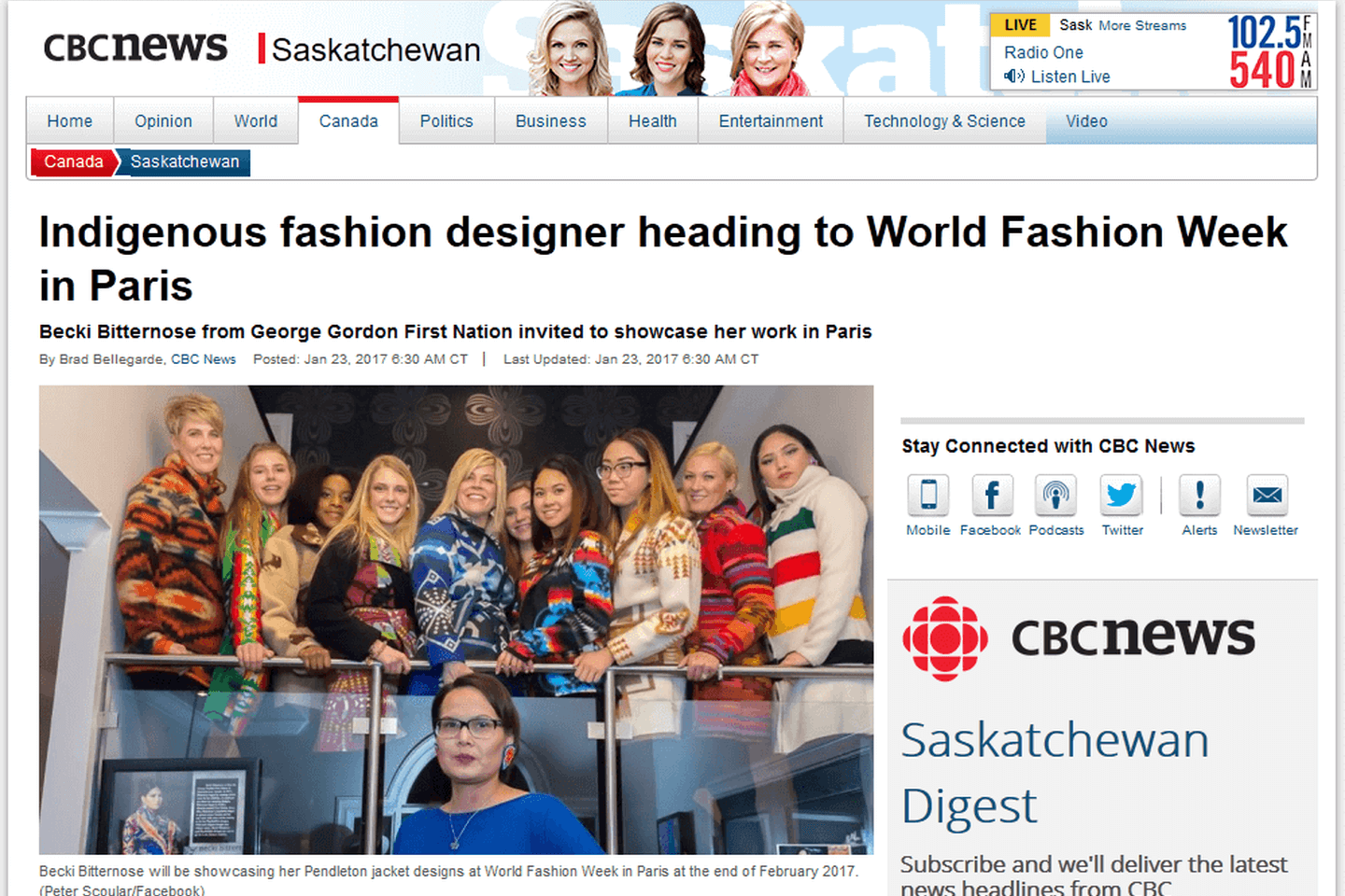 Indigenous fashion designer heading to World Fashion Week<sup>®</sup> in Paris