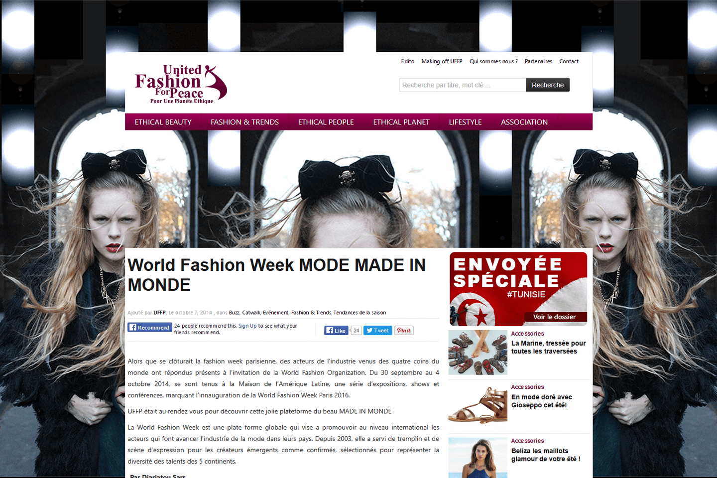 World Fashion Week<sup>®</sup> Mode made in monde